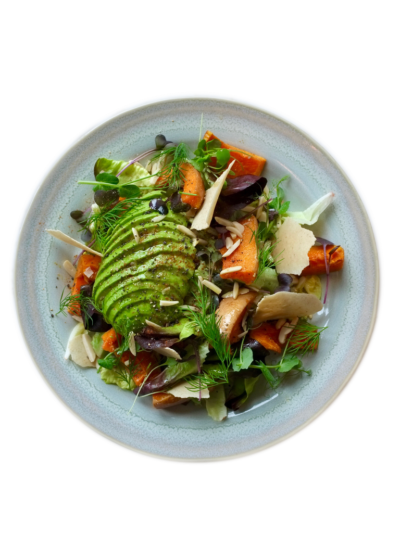 Avocado Squash Bowl on a plate