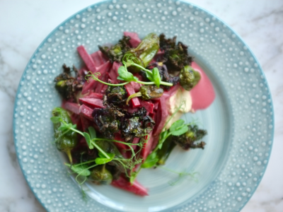 Beetroot Parsnip bowl on a plate