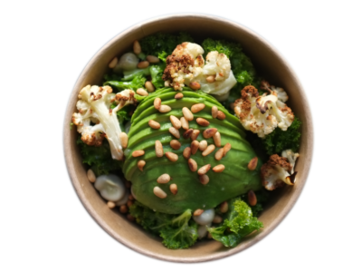 Cauliflower avocado bowl