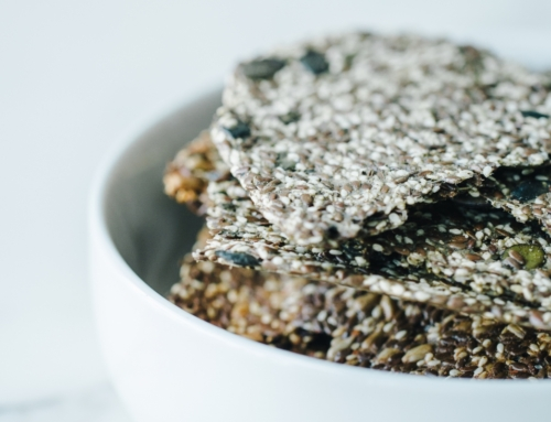 Harissa Flaxseed Crackers Recipe