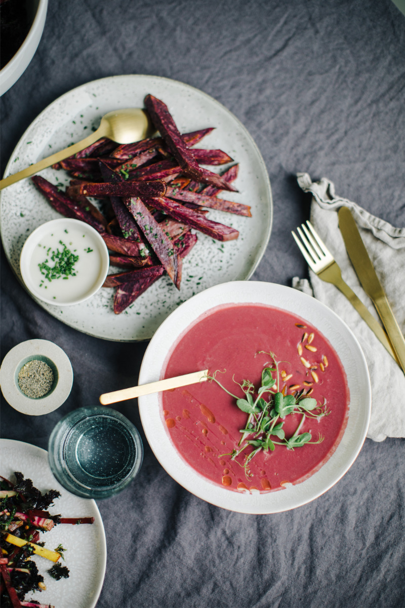 Red cabbage & Chestnut soup recipe
