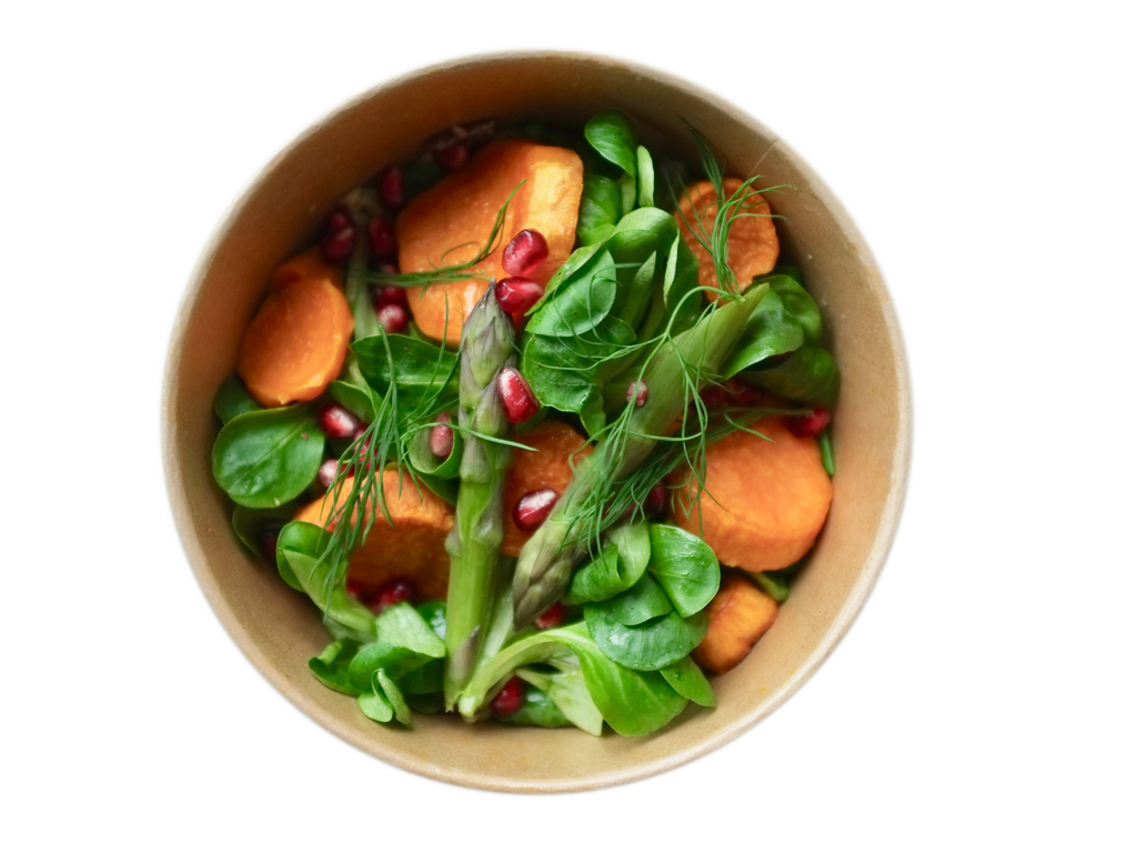 Sweet potato asparagus bowl