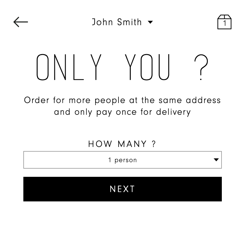 Add more people to your order