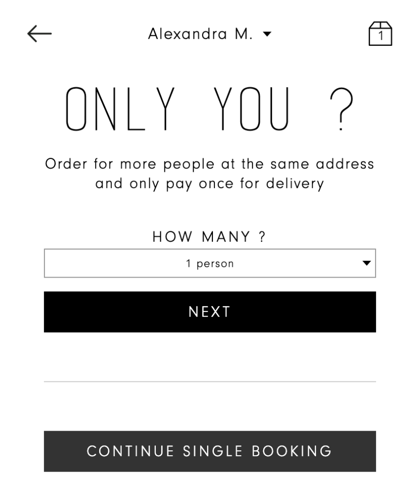 Order for more than one person